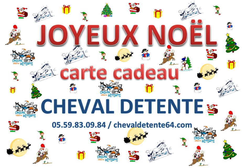 carte cadeau cheval detente